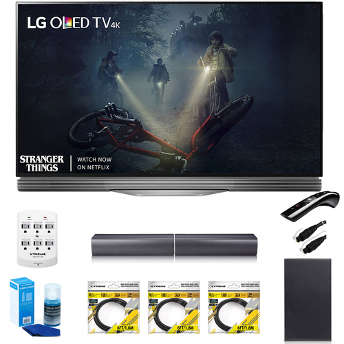 LG 55` E7 OLED 4K HDR Smart TV OLED55E7P w/LG SJ7 Wireless Sound Bar Bundle