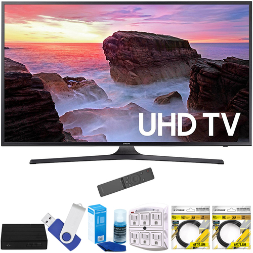 Samsung 55` 4K Ultra HD Smart LED TV 2017 Model with Terk Tuner Bundle