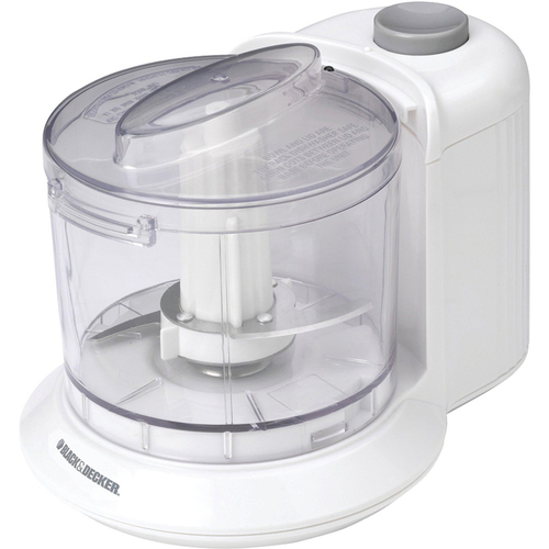 Black & Decker 1.5-Cup One-Touch Electric Chopper in White - HC306 - OPEN BOX
