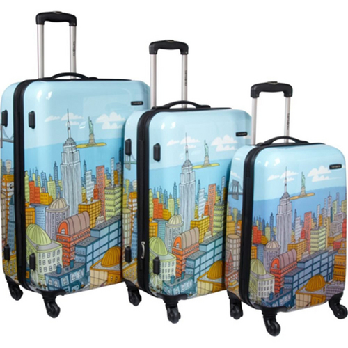 Samsonite CityScapes NYC 3 Piece Set 20`, 24`, 28` Premium Spinner Luggage Set