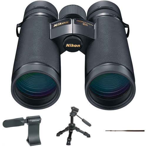 Nikon Monarch HG Binoculars 8x42 16027 with Tripod Adaptor Bundle