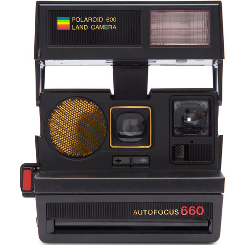 Impossible Polaroid 600 Sun 660 AF Camera with Auto Flash & Fixed Focus Lens (Black) - 1376