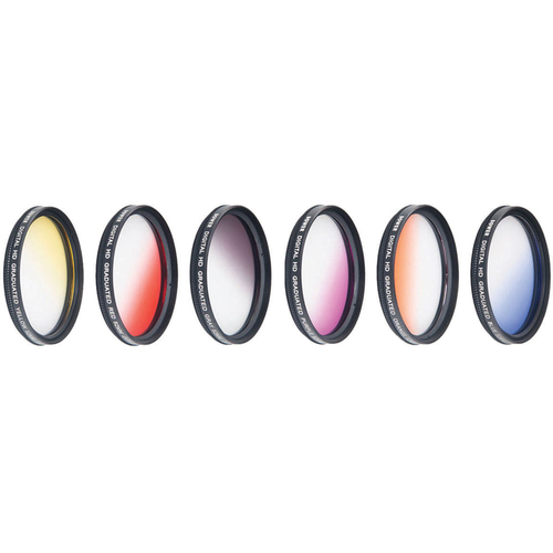 Vivitar 52mm Graduated Color Multicoated 6pcs Filter Set