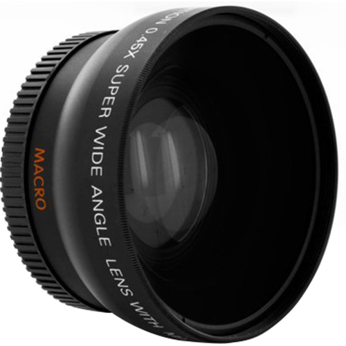 Bower Pro .45X Wide Angle Lens w/ Macro 37mm threading (Black)