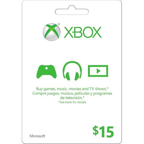 XBox Live Cards Microsoft Live Card 15 Dollars