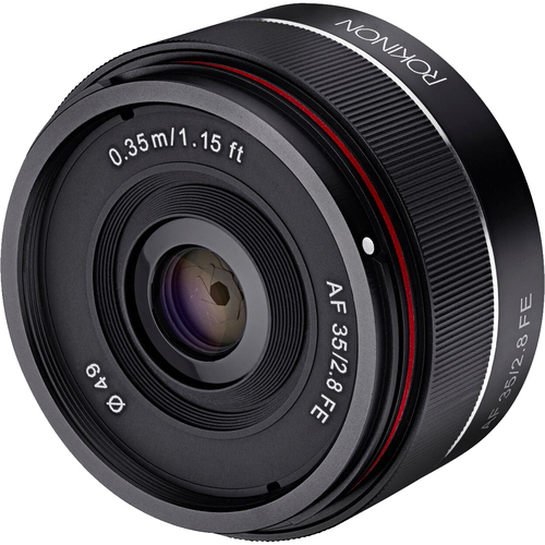 Rokinon 35mm f/2.8 FE (IO35AF-E) Ultra Compact Wide Angle Full Frame Lens (Sony E Mount)