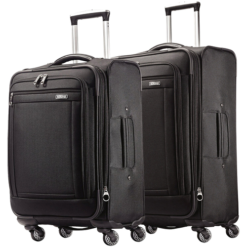 American Tourister Triumph DLX Spinner 2-Piece Luggage 25` and 21` - Black