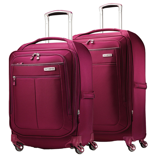 Samsonite MIGHTlight 2-Piece Ultra-lightweight Spinner Luggage 25` and 21` - Berry