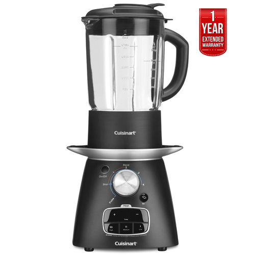 Cuisinart Soup Maker and Blender, Blend and Cook + 1 Year Extended Warranty - Refurbished