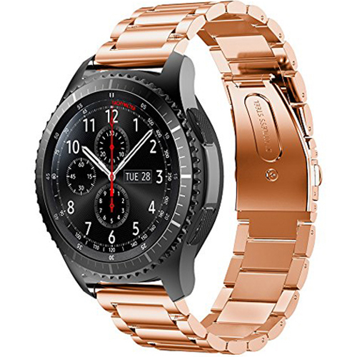 General Brand Metal Wrist Band for Samsung Gear S3 - Rose Gold