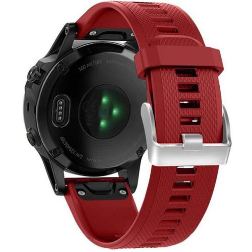 General Brand Red Silicone Wrist Band for Garmin Fenix 5 Smartwatch