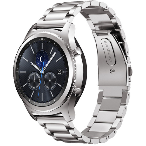 General Brand Metal Wrist Band for Samsung Gear S3 - Silver