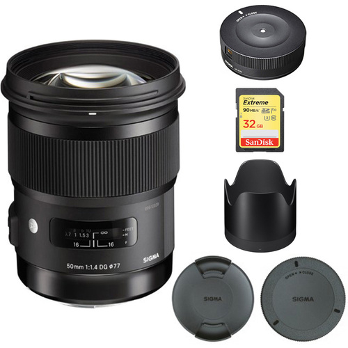 Sigma 50mm f/1.4 DG HSM Lens for Canon EF Cameras - 311101 with USB Dock Bundle