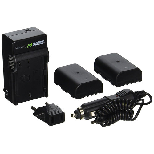 Wasabi Power Battery (2-Pack) and Charger for Panasonic DMW-BLF19 and Panasonic Lumix DMC-GH