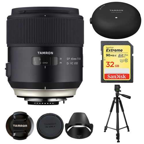Tamron SP 45mm f/1.8 Di VC USD Lens for Canon EOS Mount AFF013C-700 w/ Lens Mount Kit