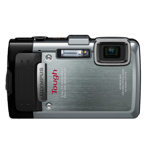 Olympus TG-830 iHS STYLUS Tough 16 MP 1080p HD Digital Camera - Silver