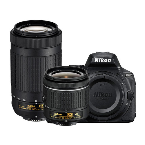 Nikon D5600 24.2MP DSLR Camera 18-55mm VR & 70-300mm ED Lens - Certified Refurbished