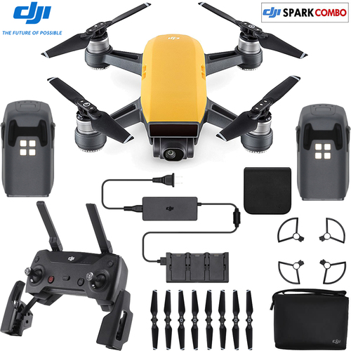 DJI SPARK Fly More Drone Combo Sunrise Yellow - CP.PT.000900