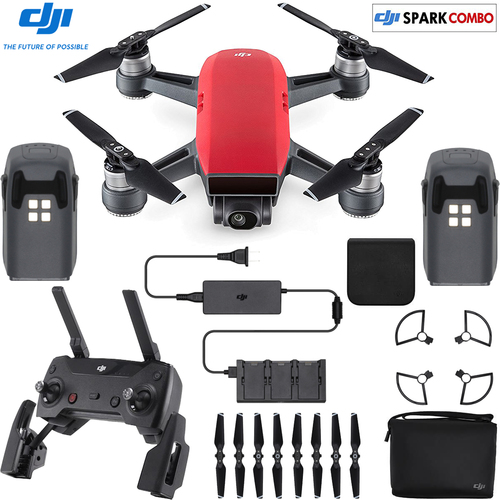 DJI SPARK Fly More Drone Combo Lava Red - CP.PT.000901