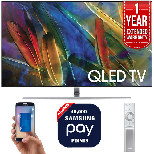 Samsung QN55Q7F 55` 4K UHD Smart QLED TV + 1 Year Extended Warranty + 40,000 Pay Points
