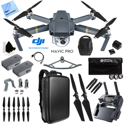 DJI Mavic Pro 4K Quadcopter Drone Fly More Combo Pack 2 Extra Batteries Ultra Kit