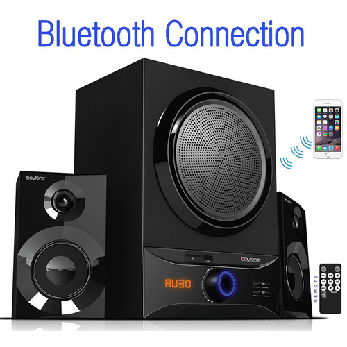 Boytone BT-209FB Wireless Bluetooth Speaker System, Powerful Sound & Bass