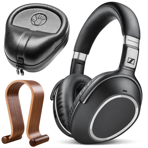 Sennheiser PXC 550 Wireless Noise Cancellation Bluetooth Headphone Bundle w/ Case and Stand