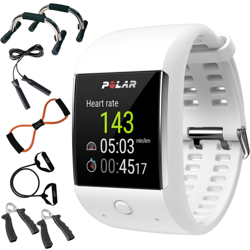 Polar M600 Sports GPS Smart Watch White - 90063089 + 7-in-1 Fitness Kit