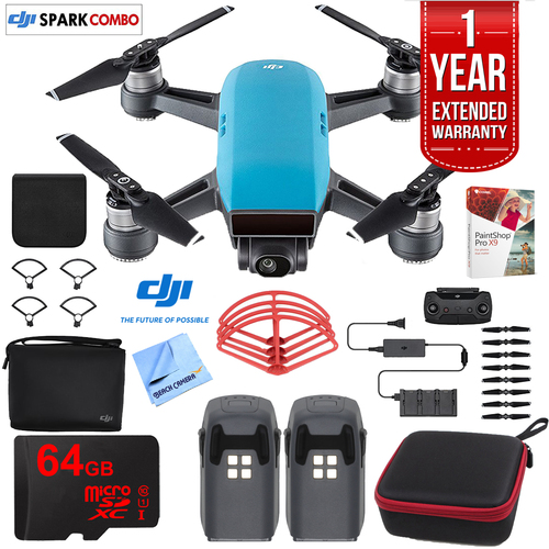 DJI SPARK Fly More Drone Combo Sky Blue - CP.PT.000902 Ultimate Bundle