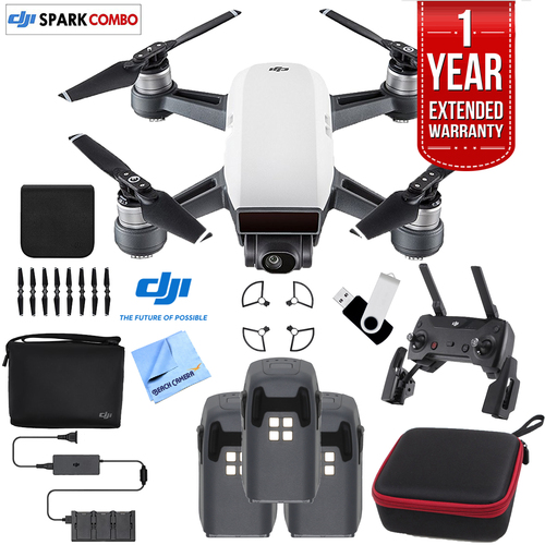 SPARK Fly More Drone Combo Alpine White - CP.PT.000899 Triple Battery Bundle