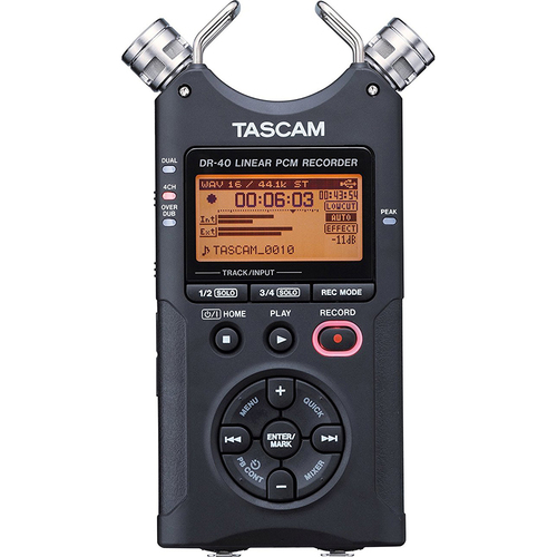 Tascam DR-40 - 4-Track Portable Digital Recorder - OPEN BOX
