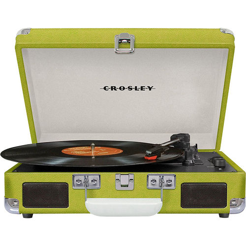 Crosley Cruiser Portable 3-Speed Turntable w/Bluetooth - CR8005D-GR (Green) - OPEN BOX