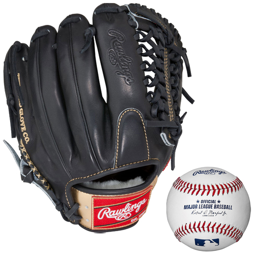 Rawlings Gold Opti-Core 12` Right Hand Throw Baseball Glove w/ Rawlings Baseball