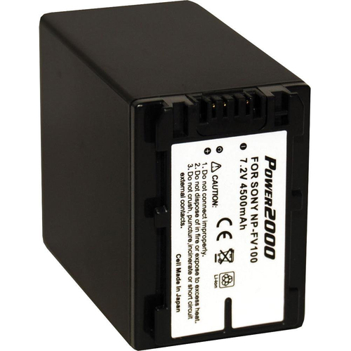 Vidpro NP-FV100 4500mAh Battery for Sony cx160,cx360,cx560,cx110 & Similar Camcorders