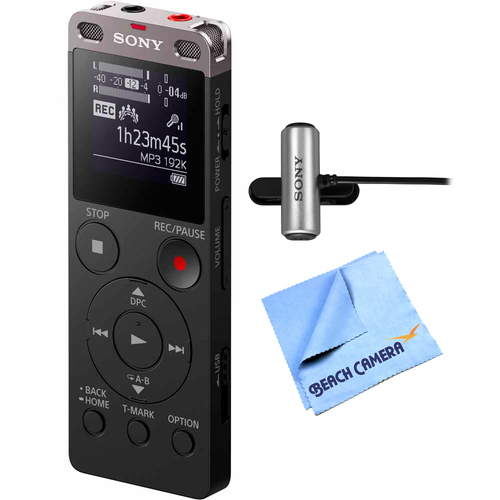 Sony Digital Voice Recorder Ux560BLK with Stereo Microphone + Micro Fiber Cloth