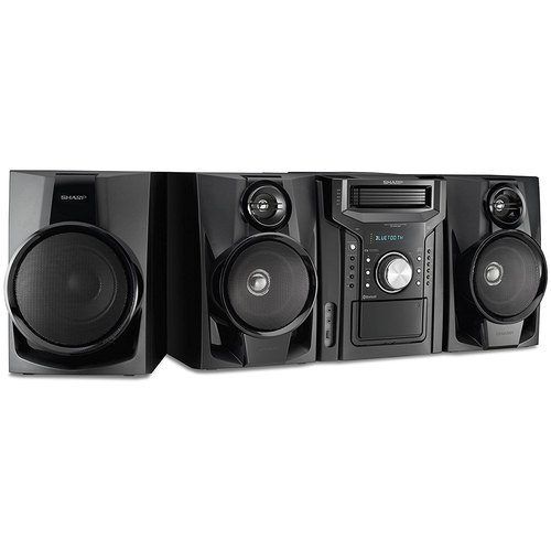 Sharp 350W 5-Disc Mini Shelf Speaker/Subwoofer System with Cassette and Bluetooth