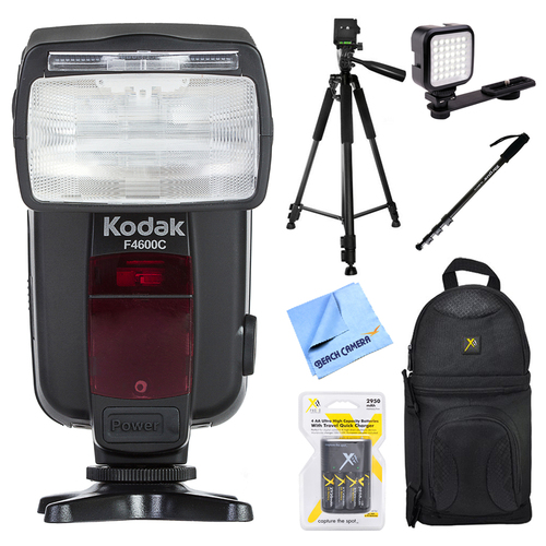Kodak 18-180 Power Zoom Flash for Canon E-TTL Cameras w/ Accessories Bundle