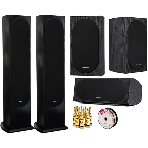 Pioneer 2-Pack Andrew Jones Designed Floorstanding Loudspeaker Speaker Bundle
