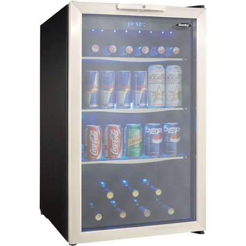 Danby 4.3 Cu. Ft. Beverage Center in Black/Stainless Steel - DBC039A1BDB