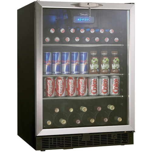 Danby 5.3 Cu. Ft. Silhouette Beverage Center in Black/Stainless Steel - DBC514BLS