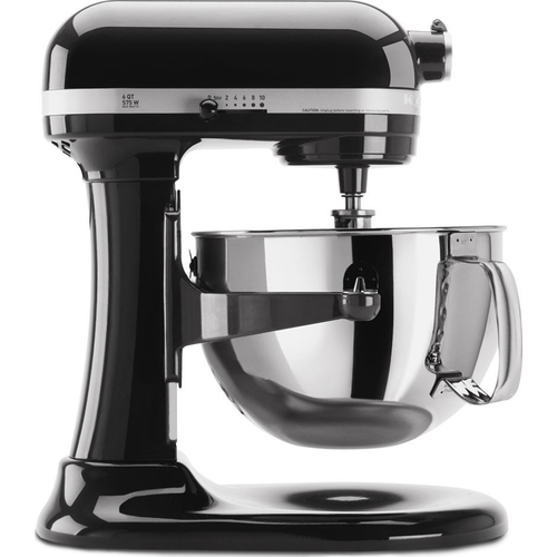 KitchenAid KP26M1XOB Professional 600 Series 6-Quart Stand Mixer (Onyx Black)
