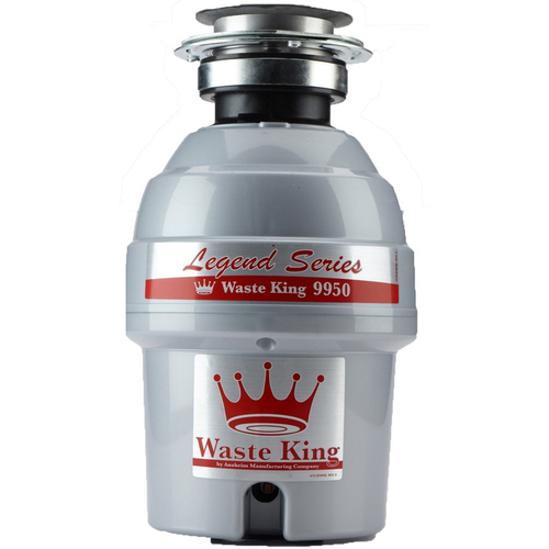 Waste King Legend Series 3/4 HP Continuous Feed Garbage Disposal with Power Cord - 9950