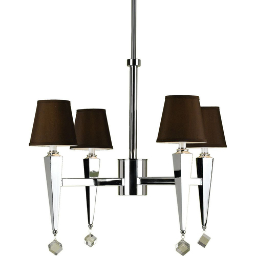 AF Lighting Margo 4-Light Chandelier in Chocolate Shades - 6687-4H
