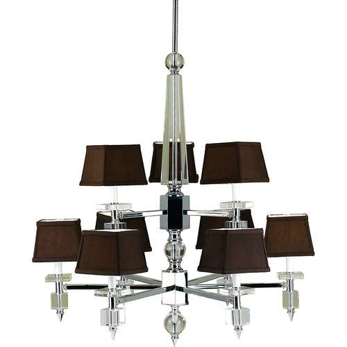 AF Lighting Cluny 9 Light Chandelier with Poly Silk Shade - 6760-9H