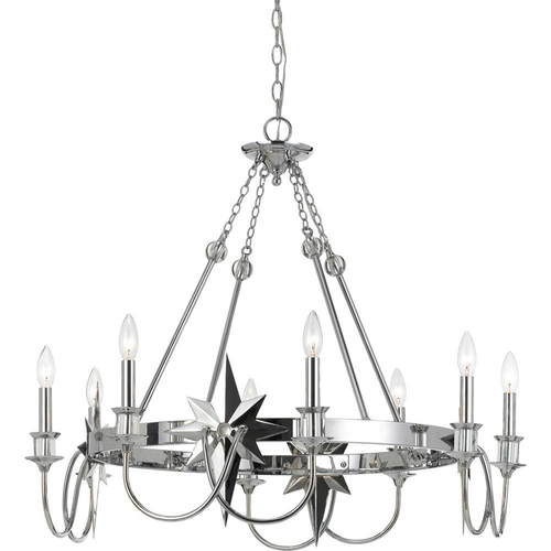 AF Lighting Orion Chandelier in Chrome - 8206-8H