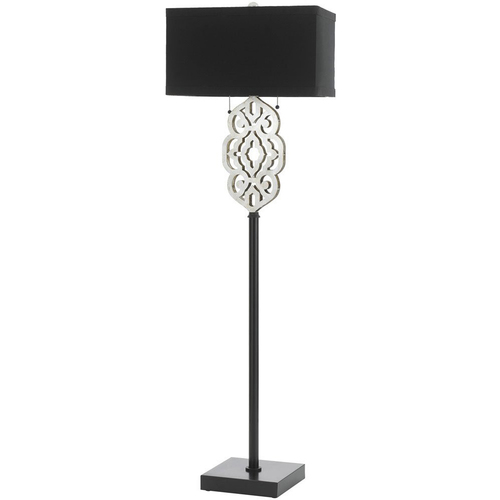 AF Lighting Grill Floor Lamp in Silver and Black - 8423-FL