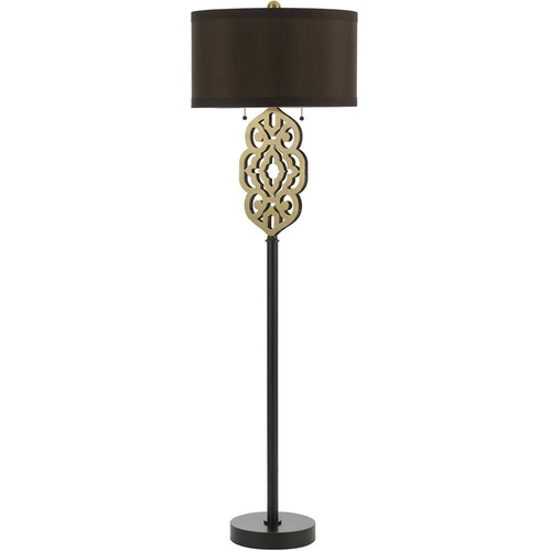 AF Lighting Grill Floor Lamp - Brass - 8424-FL