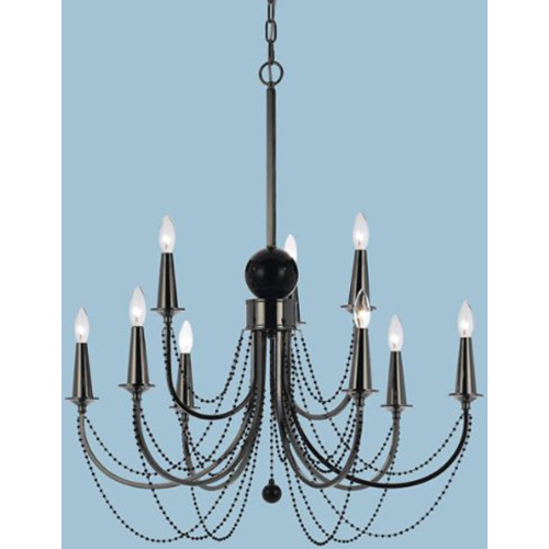 AF Lighting Shelby Metal Nine Candle Base Chandelier - 8449-9H