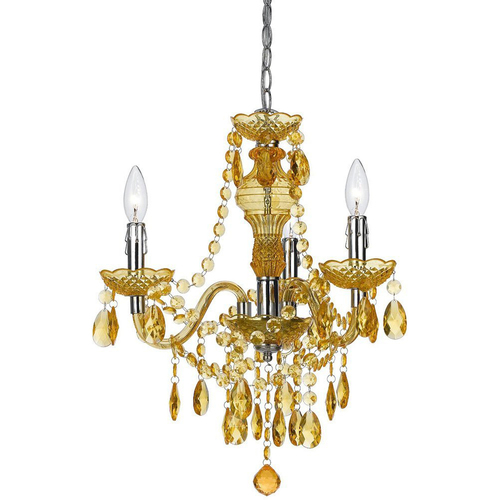 AF Lighting Fulton Mini Chandelier in Yellow - 8501-3H