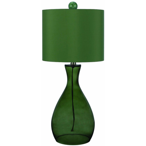 AF Lighting Mercer Hand-Blown Glass Table Lamp in Green - 8515-TL